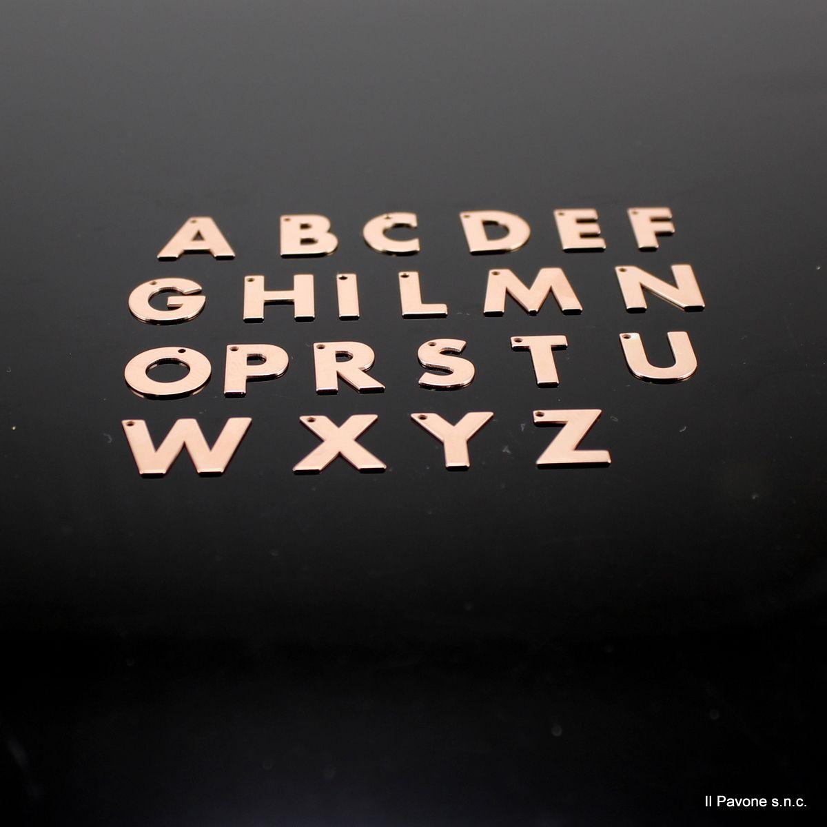 Ciondoli Argento Lettere ORO ROSA