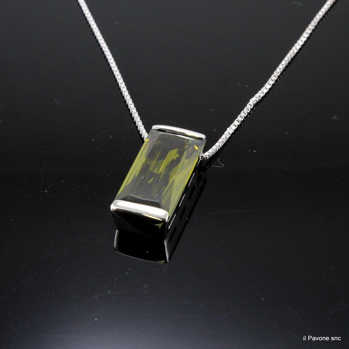 Collana Argento Cristallo
