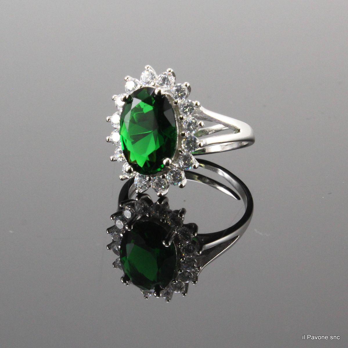 Anelli Argento Smeraldo