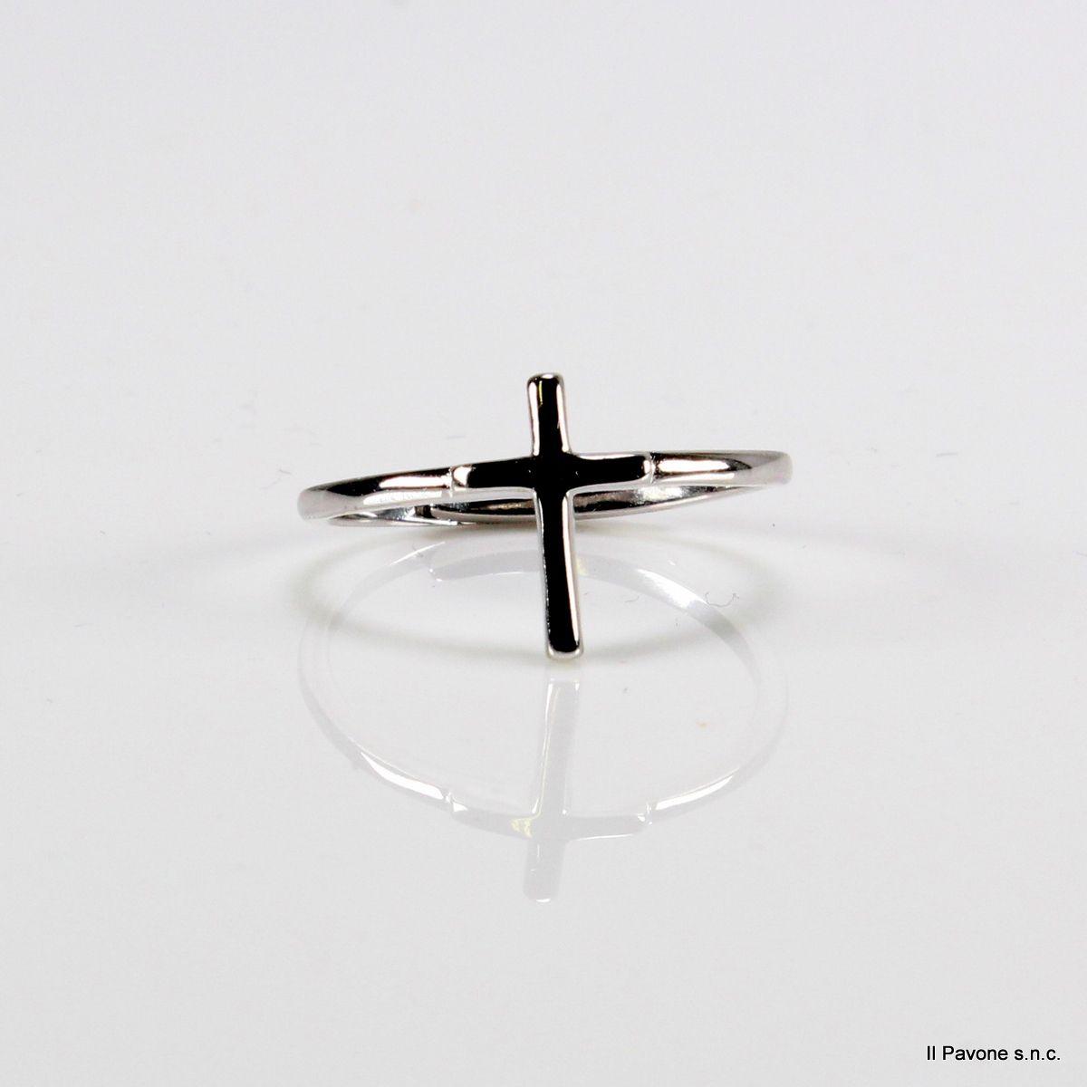 Anello Argento Croce