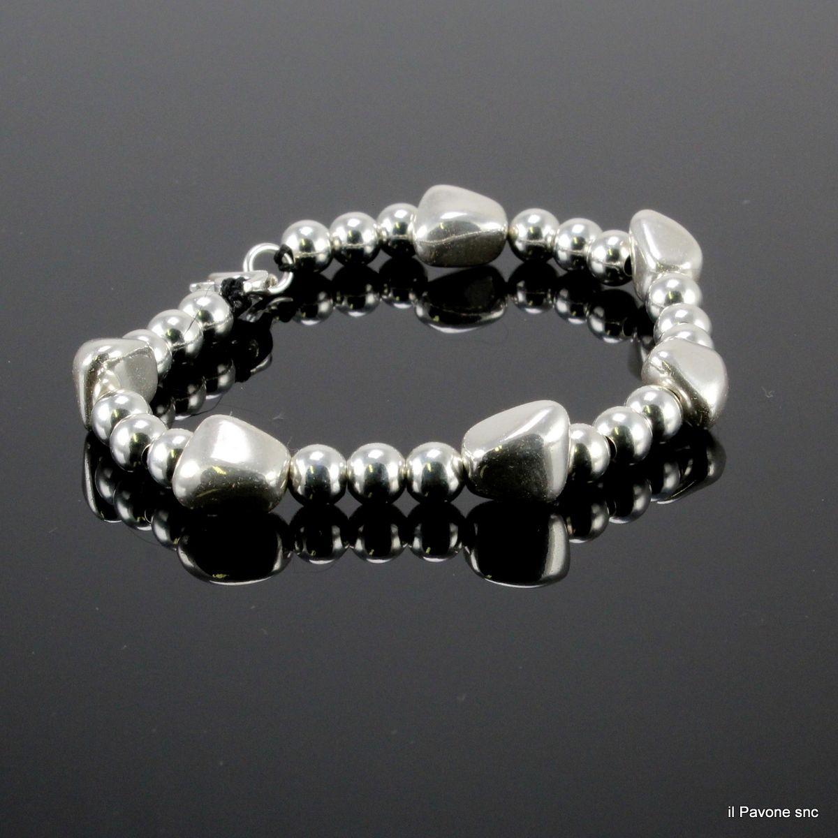Bracciale argento Pepite