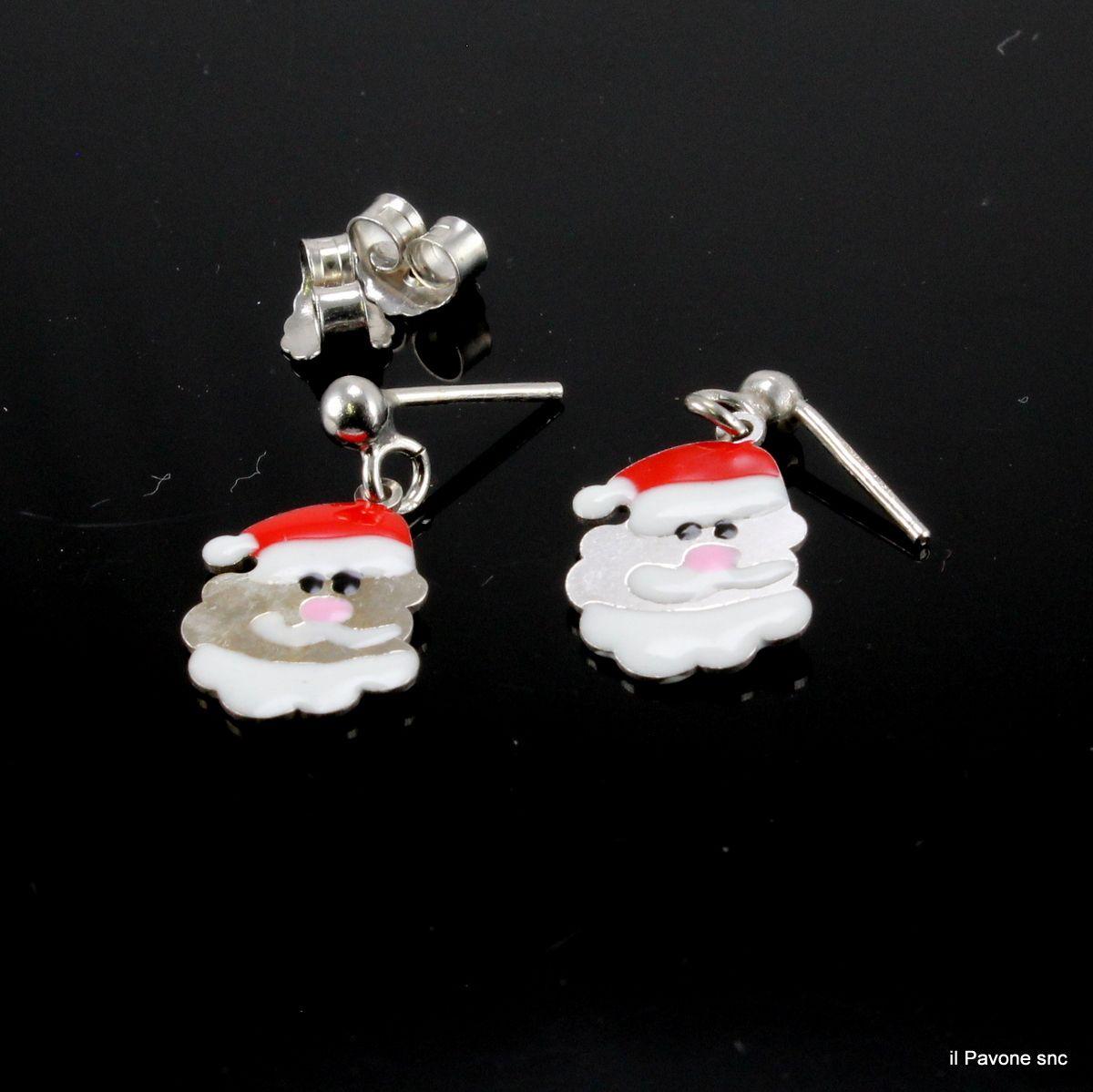 Orecchini Argento Natale01