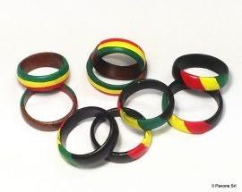 Anelli Legno Bandiera Giamaica