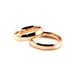 Anello Acciaio Francesina Oro Rosa 4mm