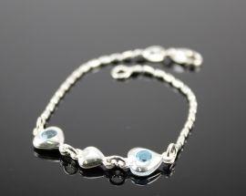 Bracciale argento Acquamarina 5011