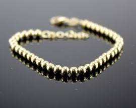 Bracciale Argento Sfere Oro