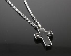 Ciondolo Acciaio Croce