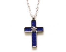 Ciondolo Acciaio Croce e Timone