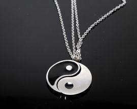 Ciondolo Acciaio Yin Yang Spazzabile