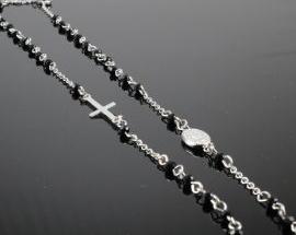 Collana Acciaio rosario03