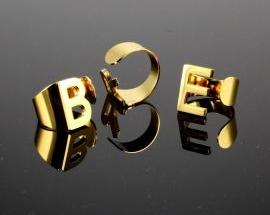 New Acciaio anelli Oro