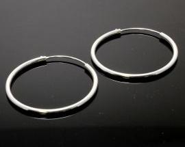 Orecchino Argento Cerchio Canna 1,5mm