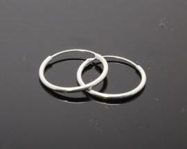 Orecchino Argento Cerchio Canna 1,2mm