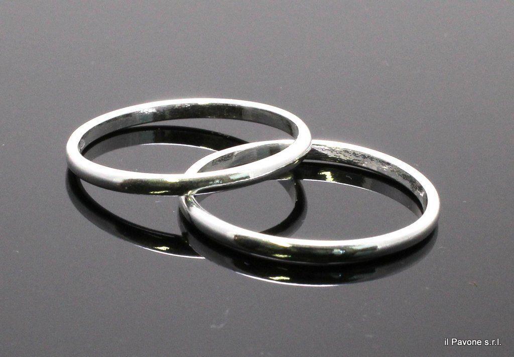 Fedina argento sottile 2mm anelli fedi argento 925 for Prezzi di raccordo in acciaio