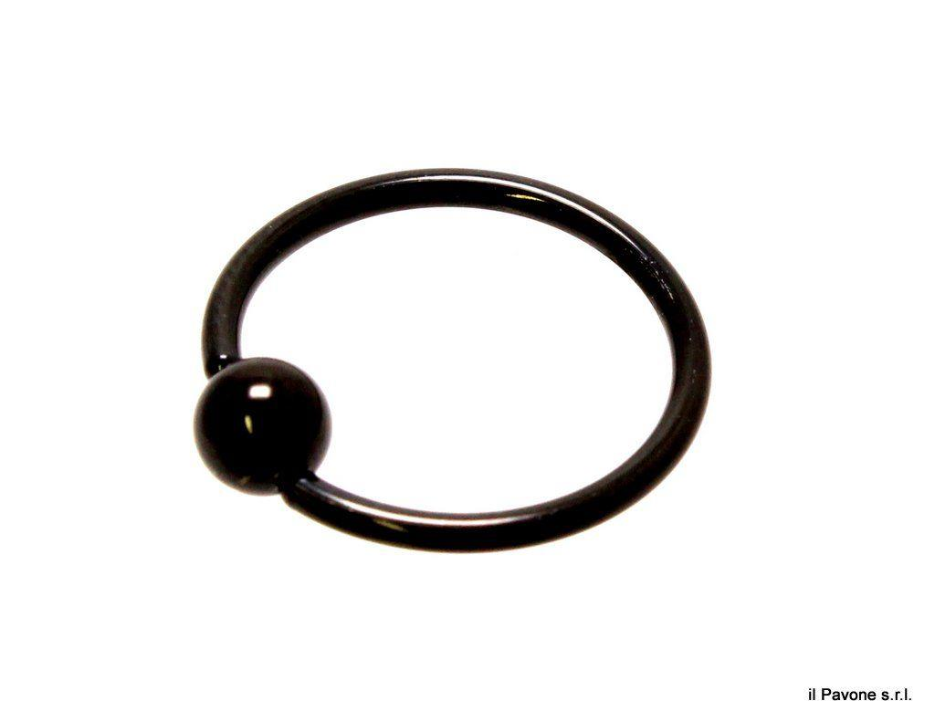 Piercing Ring Nero 9284