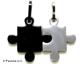 Ciondolo Acciaio Puzzle